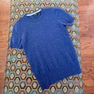 Theory Cashmere Tee Sweater Shirt blue